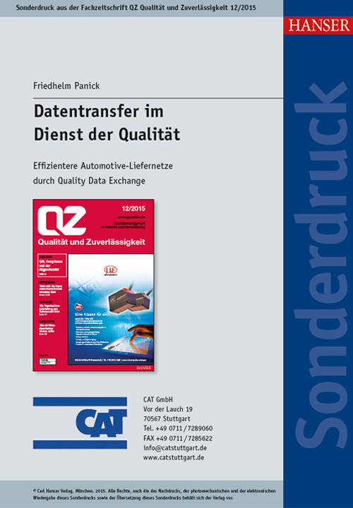 Datentransfer im Dienst der Qualität