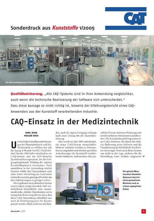 CAQ-Einsatz in der Medizintechnik