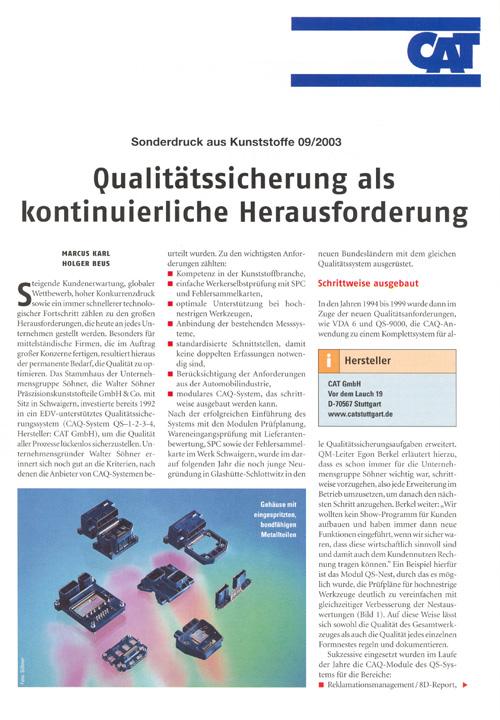 Qualitätssicherung als kontinuierliche Herausforderung